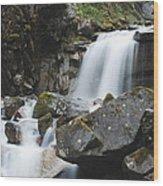 Skagway Waterfall 8619 Wood Print