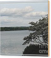 Skaneateles Lake In Ny Finger Lakes Water Color Effect Wood Print