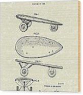 Skateboard Coaster Car 1948 Patent Art  Wood Print