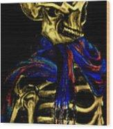 Skeleton Fashion Victim Wood Print