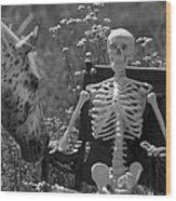 Skeleton In My Closet Wood Print