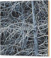 Skeleton Tree Wood Print
