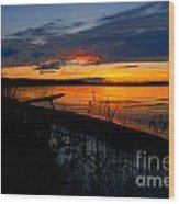 Skeloton Lake Sunset Hdr Wood Print