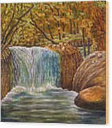 Skelwith Force Waterfall - Lake District Wood Print