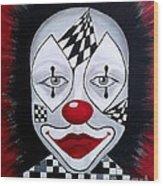 Skeptical...clown Wood Print