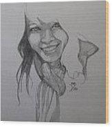 Sketch For Kim Wood Print
