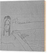 Sketched Expression Series - Mona Lisa Wood Print