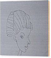 Sketched Expression Series - Serene Pose Wood Print by Stephanie Ward