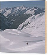 Skier Phil Atkinson Heads Down Mount Wood Print
