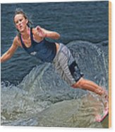 Skimmer Girl 2 Wood Print