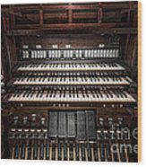 Skinner Pipe Organ Wood Print
