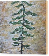 Skinny White Pine Wood Print
