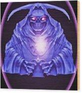 Skull Orb Wood Print