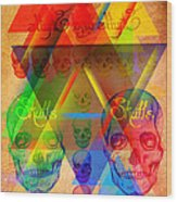 Skulls And Skulls Wood Print by Kenal Louis