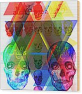 Skulls Illuminate Skulls Wood Print by Kenal Louis