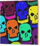 Skulls Wood Print by Jame Hayes
