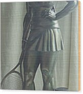 Skupture Tennis Player Wood Print