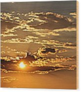 Sky Ablaze 1 Wood Print by Marty Koch