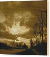 Sky Ablaze Wood Print