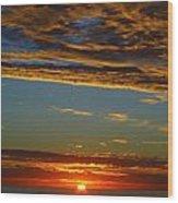 Sky Angels Wood Print by Linda Larson