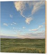 Sky At Sunset, Grasslands National Wood Print