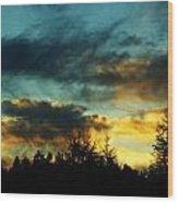 Sky Attitude Wood Print