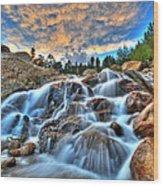 Sky Blue Falls Wood Print