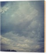 #sky #clouds #nature #andrography Wood Print by Kel Hill