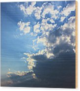 Sky Drama Wood Print