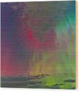 Sky Full Of North Light Wood Print by Frank Olsen