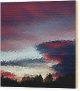 Sky Wood Print by Kevin Bone