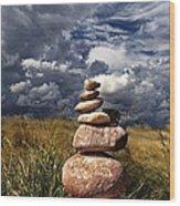 Sky Of Stone Wood Print by Gabriel Calahorra