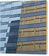 Sky Scraper Tall Building Abstract With Windows And Reflections No.0102 Wood Print