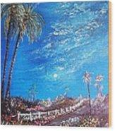 Sky So Blue Wood Print