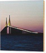 Skyway Bridge Tampa Bay Wood Print