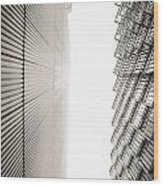 Slatted Window Architecture Wood Print