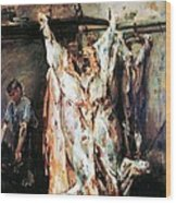 Slaughtered Ox Wood Print
