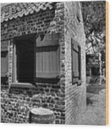 Slave Cabins Wood Print by Steven Ainsworth
