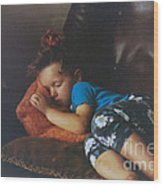 Sleeping Beauty Wood Print by Joanne Kocwin