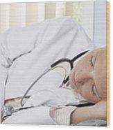 Sleeping Doctor Wood Print