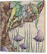 Sleeping Gnome Wood Print