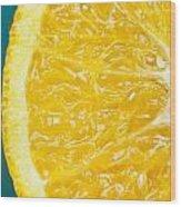 Sliced Orange Wood Print