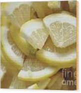 Slices Of Lemon Wood Print