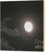 Slithering Moonlit Clouds Wood Print