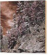 Slope Wood Print