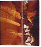 Slot Canyon Shaft Of Light Wood Print