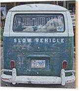 Slow Vehicle Wood Print