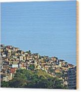 Slum At Santa Teresa Wood Print