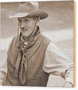 Sly Cowboy Wood Print