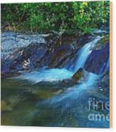 Small Blue Water Wood Print